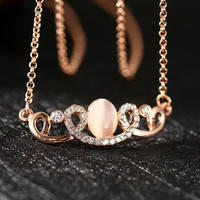 Rose Gold Plated Spiral Abstarct Necklace