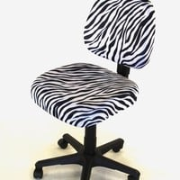 Office Chair Seat Cover Zebra