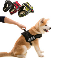 Pet Big Dog Soft Material Nylon & Cotton Durable Padded Vest Harness,Personalized Walking Running Medium Large Dog Harness Leash