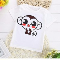 2017 Children T Shirts Character Summer New Boys Kids T-Shirt Teen Clothing For Girls Character Baby Clothing Girls T-Shirts