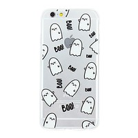 Boo! Ghost Collage Dense Soft Silicone TPU Clear Transparent Phone Back Case Cover for iPhone 5 5s 6 6s 7 7 Plus