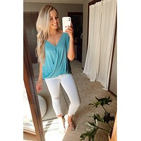 Beautiful Getaway Top-Dusty Teal