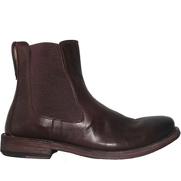 Kixters Sloan - Antique Dark Brown Oil Leather Pull-On Boot