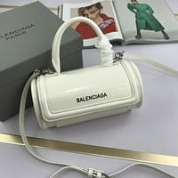 Balenciaga Women Leather Shoulder Bag Satchel Tote Bag Handbag Shopping Leather Tote Crossbody