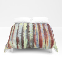 Dwellers in history - a tree tale Duvet Cover by anipani
