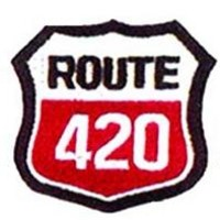 Route 420 Iron-On Patch Sign Logo