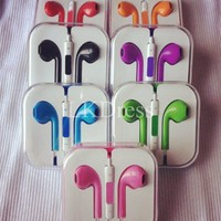 Purple Earphone Headphones with Remote Mic for iPhone [3317]