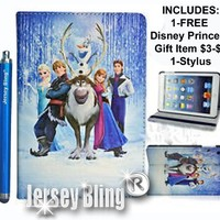 """NEW! FROZEN KINDLE FIRE HD 7"""" Princess Gift Set Incl: Faux Leather PVC Case with FREE Stylus & Disney Princess Gift Item"""