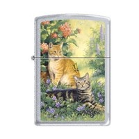 Zippo Linda Pickens Collection Purrrfect Cats Lighter