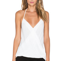 Three Eighty Two Em Halter Tank in Ivory