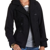 BELTED DOUBLE BREASTED PEACOAT