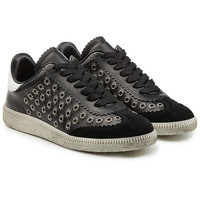 Bryce Embellished Leather and Suede Sneakers - Isabel Marant | WOMEN | KR STYLEBOP.COM