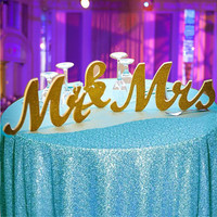 Wedding Reception Sign Wooden Letters Mr & Mrs Table Centrepiece Decor Gift