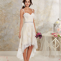 Alfred Angelo 8535NT Lace High Low Wedding Dress