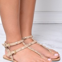 First Class Nude Sandals