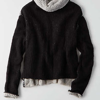 Don't Ask Why Turtleneck Sweater, Black