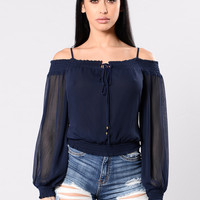 So Fresh And So Clean Top - Navy