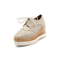 Women Wedges Lace Up Oxfords Platform Shoes