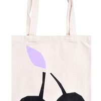 Cherry Canvas Tote