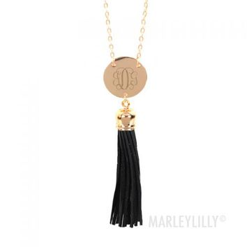 Monogram Tassel Necklaces | Marleylilly