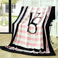 Pink Victoria's Secret Conditioning Throw Blanket Quilt For Bedroom Living Rooms Sofa