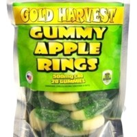 Gold Harvest CBD Gummy Apple Rings. 20 Count / 500mg total