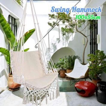 Nordic Style Hammock Swing Outdoor Indoor Garden Camping Hammock Bedroom Dormitory Hanging Chair For Children Adult