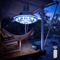 Remote Control Solar Lamp Ultra Bright Tent Fishing Camping Equipment Light - Great for Hiking Hunting Storm Emergency Hurricane