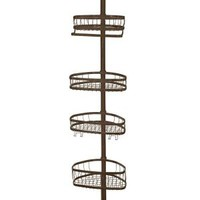 interDesign York Tension Pole Shower Caddy in Bronze 42671 at The Home Depot - Mobile