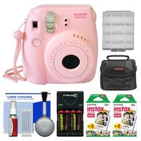 Fujifilm Instax Mini 8 Instant Film Camera (Pink) with 40 Instant Film + Case + Batteries & Charger Kit - Walmart.com