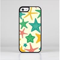 The Tan And Colorful Vector StarFish Skin-Sert Case for the Apple iPhone 5c