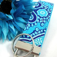 KEYLETTE Key Fob Wristlet....Queen Periwinkle Turquoise
