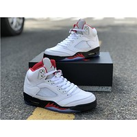 "VIP AJ5 Complete Series \Air Jordan 5 ""Fire Red"" Ruan Chuan Maple"