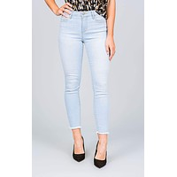 Abby Frayed High Rise Skinny Jeans