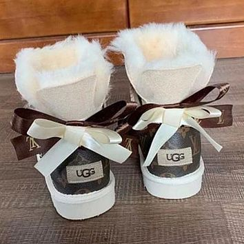UGG LV LouisVuitton Bow Boot Snow Boots Shoes
