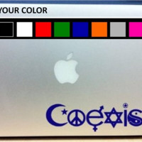 COEXIST Laptop Decal Vinyl