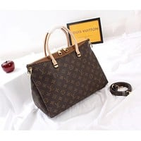 LV Louis Vuitton WOMEN'S MONOGRAM CANVAS PALLAS HANDBAG SHOULDER BAG