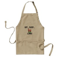 Eat Sleep LLAMAS Adult Apron