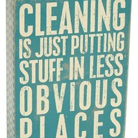 Primitives by Kathy 'Cleaning' Box Sign