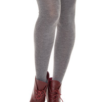 Hope Over The Knee Socks - Gray
