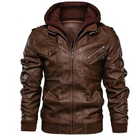 Men's leather jacket casual jacket and new motorcycle jacket
