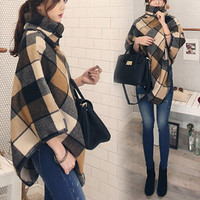 Plus Size Winter Plaid Scarf Jacket [9307408772]