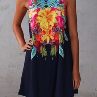 Delusion Dress Navy - Womens