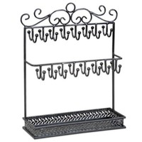 Jewelry Stand with Tray in Black