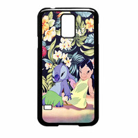 Lilo And Stitch Dancing Floral Samsung Galaxy S5 Case