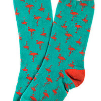 The Foot Candy Sock in Flamingo Print