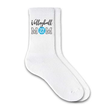 Volleyball Mom - Personalized Volleyball Crew Socks