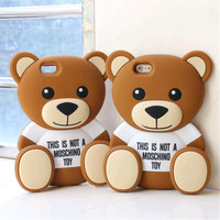 Solid teddy bear cell phone case for iphone 6 drop proof Hot sale this is not a toy new Fashion Factoryprice Direct saling