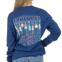 Lauren James: Boats & Floats Tee {Estate Blue}