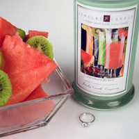 Watermelon Kiwi Jewelry Candles - RING SIZE 7 ONLY